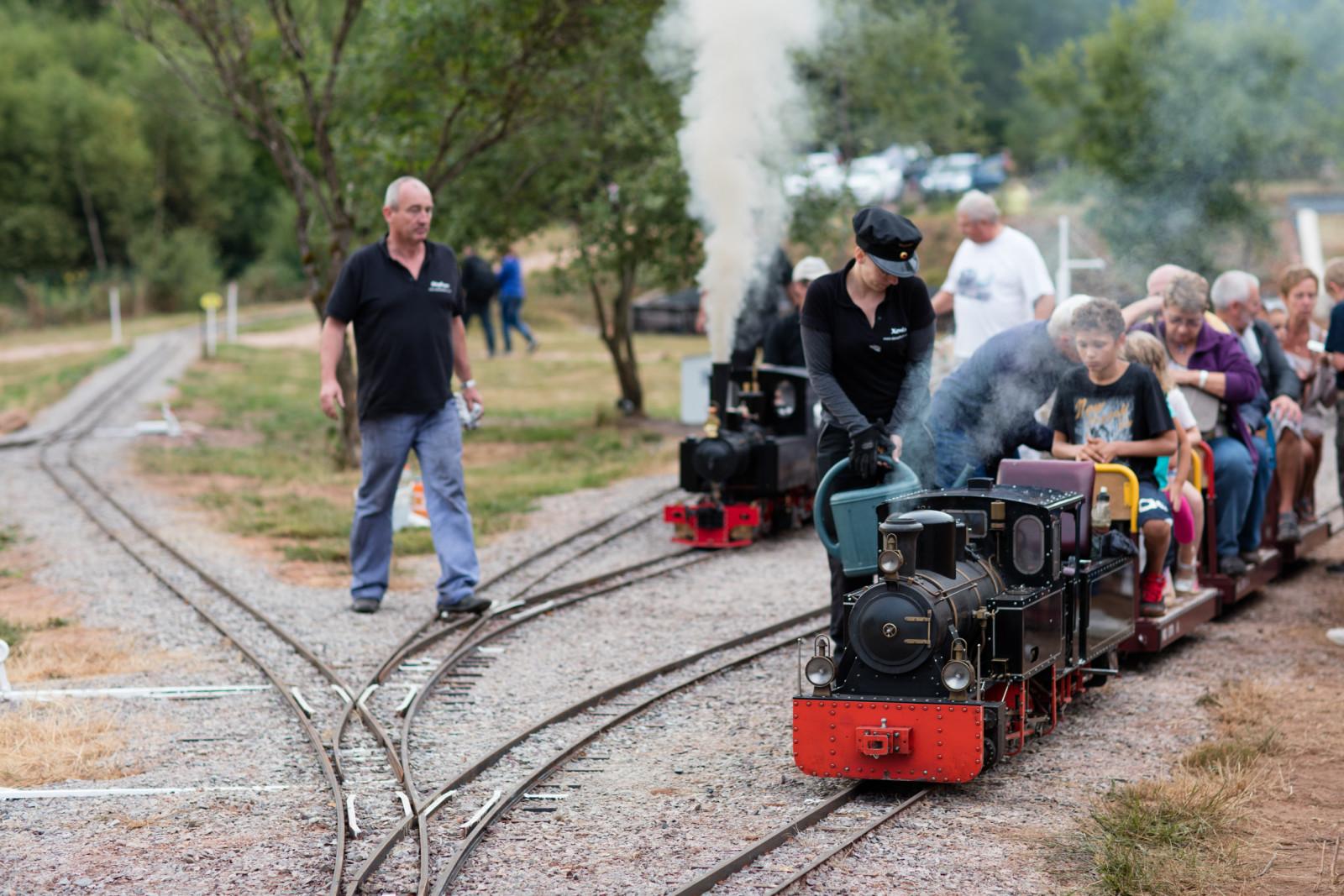 Samedi, malgré une bonne averse, tous les trains étaient complets !