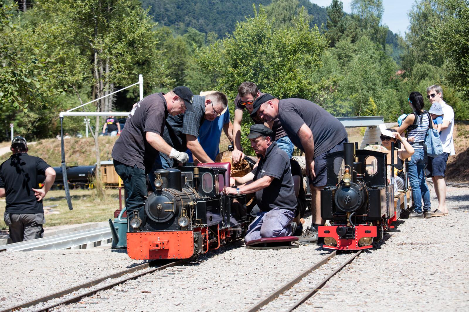 Préparation des trains en gare