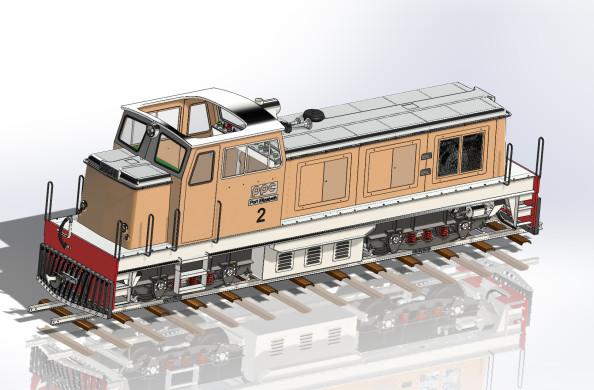 Locomotive Funkey Vue Arrière