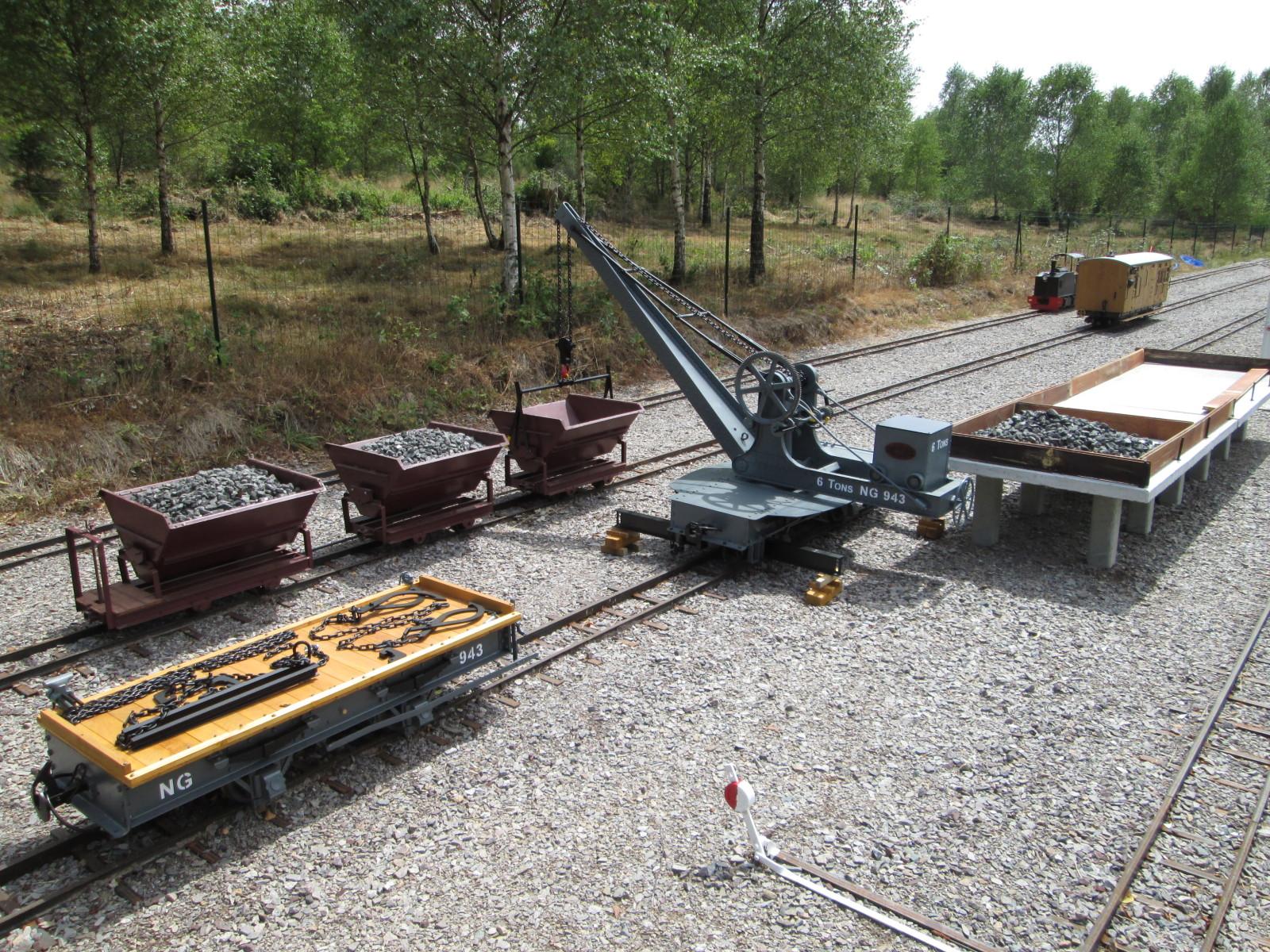 Grue Cowans & Sheldon remplissage du quai à charbon