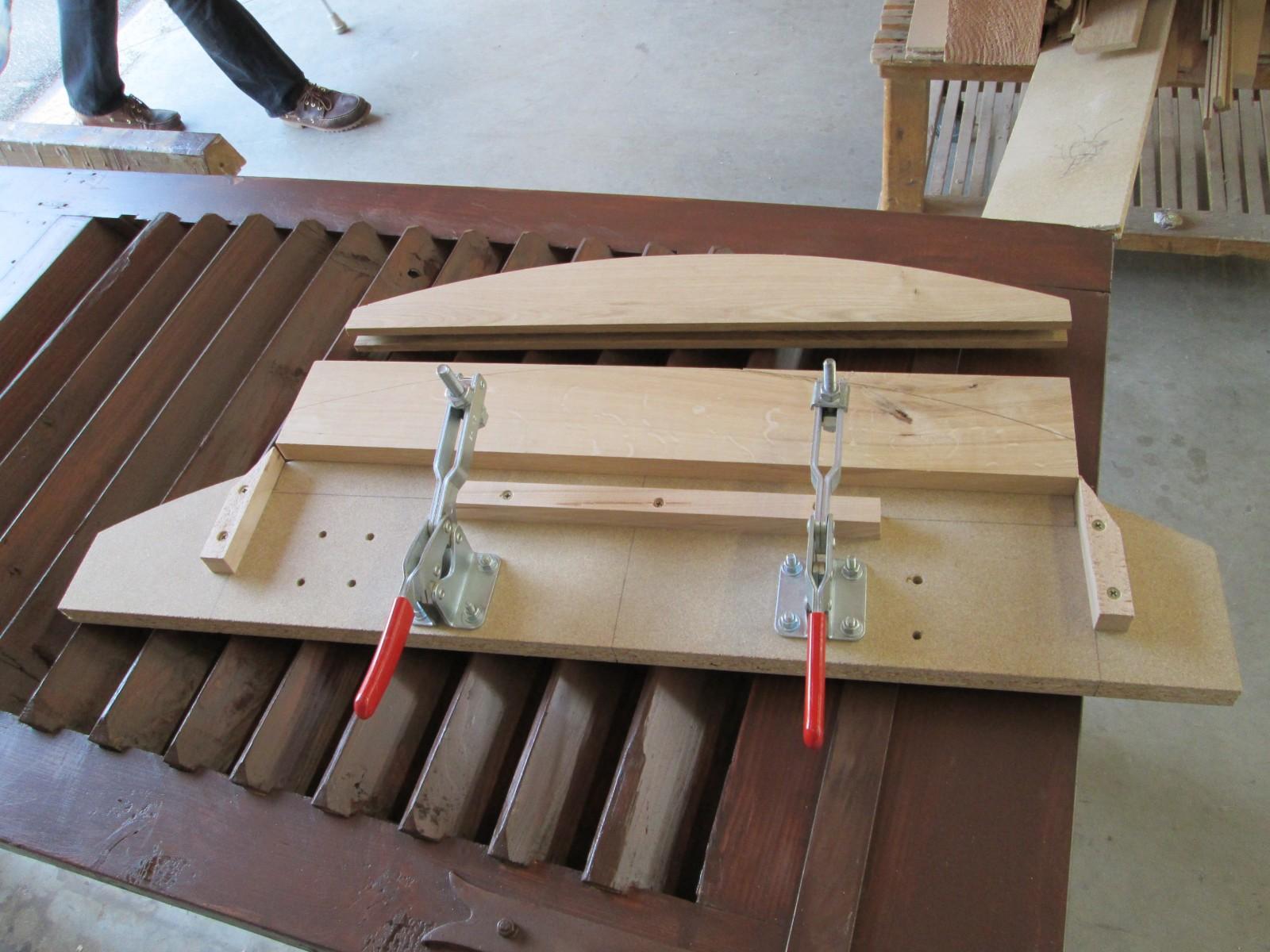 Montage pour la réalisation des arondis de toiture